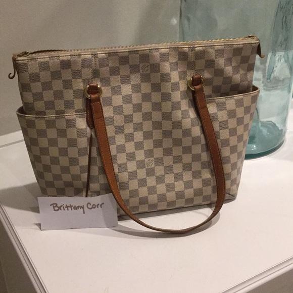 Louis Vuitton Handbags - AUTHENTIC Louis Vuitton Totally Damier Azur MM a272d3c58c708